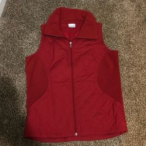 Red Columbia Vest Size M